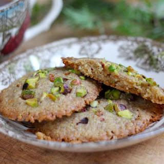 Pistachio Cardamom Shortbread Drops.