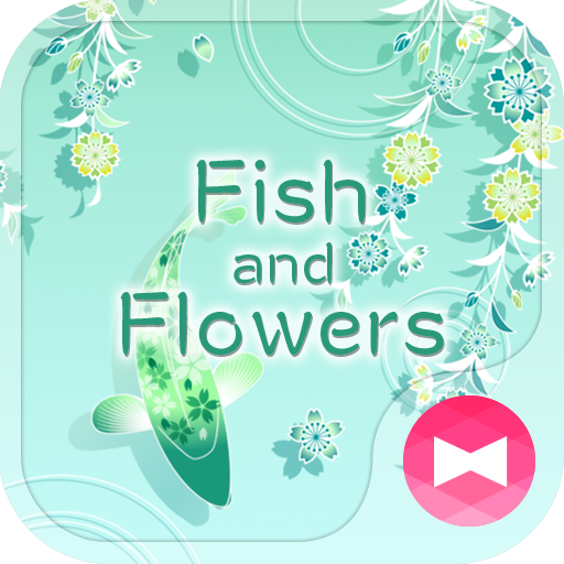 Cool Wallpaper Fish and Flowers Theme Icon