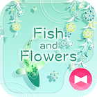 Cool Wallpaper Fish and Flowers Tema icon