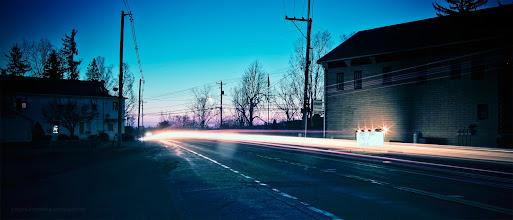 "Photo: ""Lehman Light Trails"" Lehman Center Luzerne County, Pennsylvania Tuesday, March 6th, 2012"