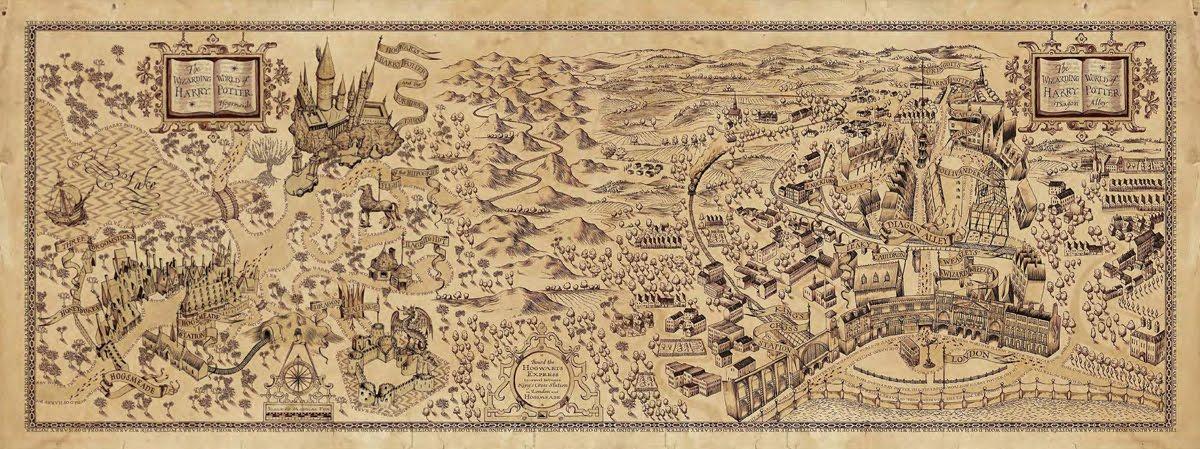 Magiczna mapa Huncwotów - Harry Potter