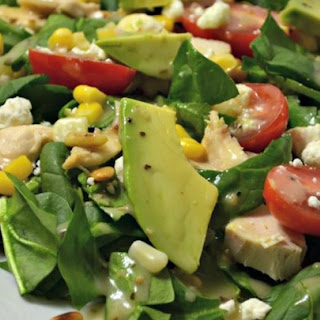 Spinach Salad with Chicken, Avocado, and Goat Cheese Recipe