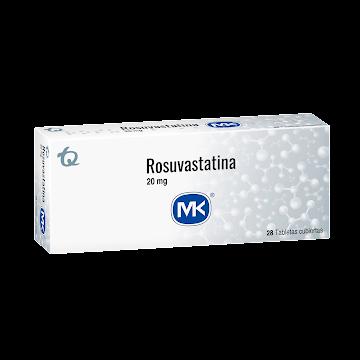 Rosuvastatina MK 20mg   Tableta Caja x28Tab.