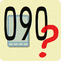 Simple search phone number icon