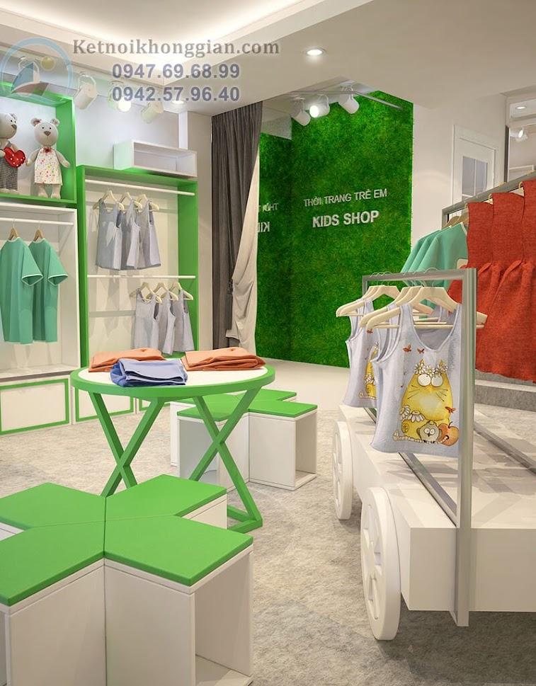 thiết kế shop thời trang trẻ em chủ đầu tư là chị Thúy