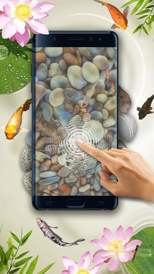 Koi pond 3d live wallpaper android apps on google play for Fish pond game
