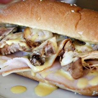 Truffle Mayo Turkey Sandwich with Mushrooms Recipe