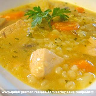 German Barley Soup.