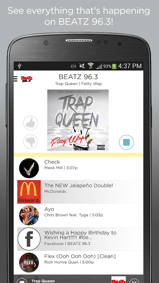 BEATZ 96.3- screenshot