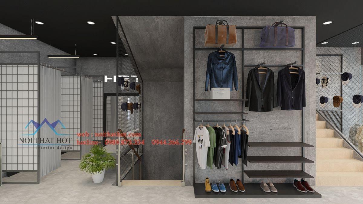 mẫu thiết kế cửa hàng quần áo nam