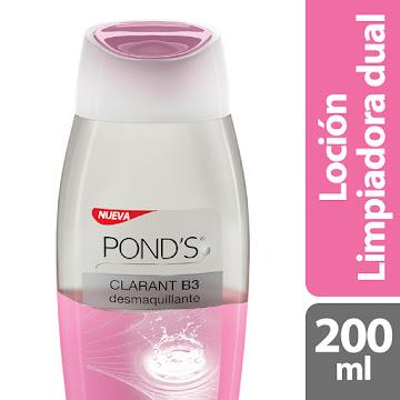 Loción PONDS Facial   Clarant B3 Desmaquillante Limpiadura Dual x200Ml