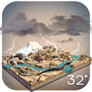 3D Real-time Weather on Mount.  Icon
