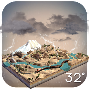 3D Real-time Weather on Mount.