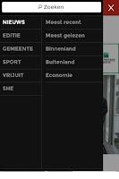 Screenshot of gva.be mobile