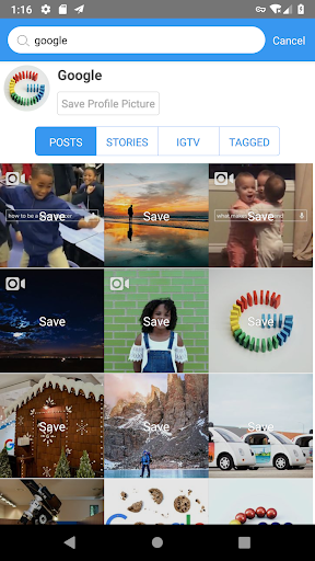 Screenshot for SaveIG in United States Play Store