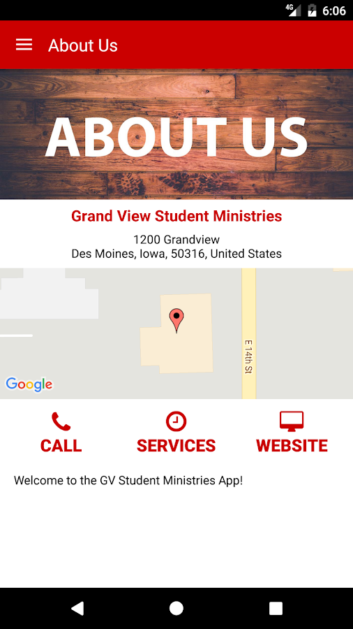 Grand View Student Ministries- screenshot