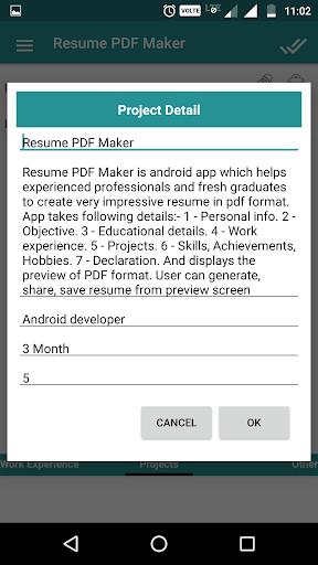 Resume PDF Maker / CV Builder 1.11 screenshots 7