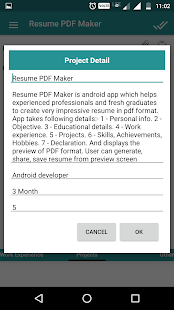 resume pdf maker cv builder screenshot thumbnail