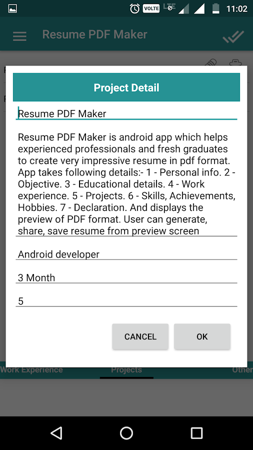 resume pdf maker cv builder android apps on google play
