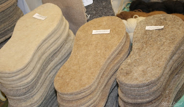 Photo: Jester Farm's homemade foot pads at Delmarva Wool & Fiber Expo 2015 (Fall) | Photograph Copyright Robert J Banach #oceancitycool