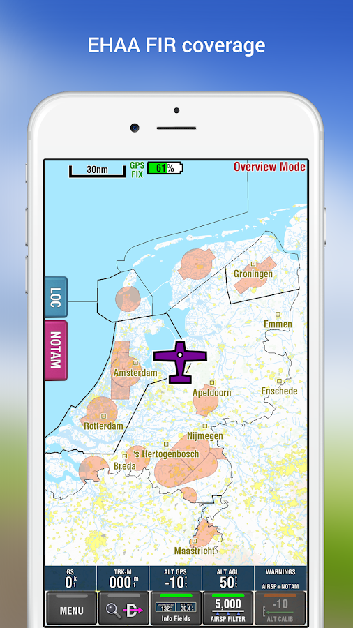EasyVFR basic NL  (AirspaceAVOID) for pilots- screenshot