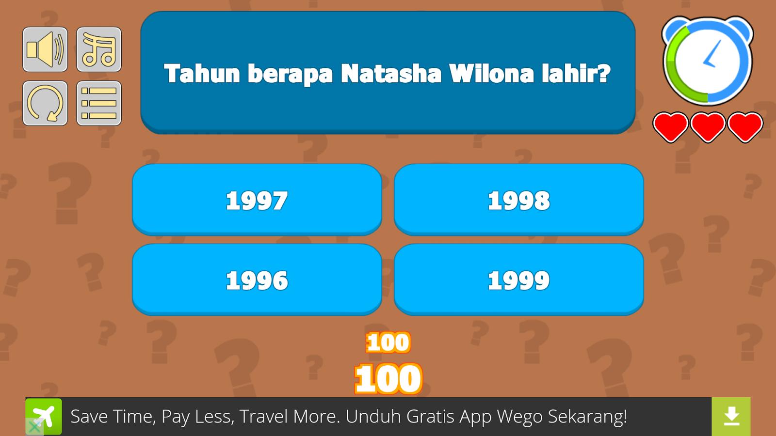 Kuis Natasha Wilona Apl Android Di Google Play