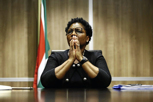 State security minister Ayanda Dlodlo (pictured), police minister Bheki Cele and defence minister Nosiviwe Mapisa-Nqakula tried to 'censor' evidence said intelligence watchdog Isaac Dintwe. File photo