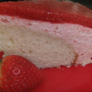 Strawberry Bavarian Cream Cake With Strawberry Mirror.
