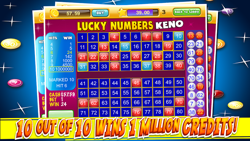 Las Vegas Keno Numbers Free Screenshot