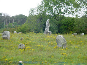 Photo: The largest standing stones are called menhirs. Their size can vary considerably; but their shape is generally uneven and squared, often tapering toward the top. The function of Menhirs has provoked more debate than practically any other issue in European prehistory. Over the centuries they have variously been thought to have been used by Druids for human sacrifice, or were territorial markers, elements of a complex ideological system, or early calendars. The word menhir was adopted from French by 19th century archaeologists. It is a combination of two words found in the Breton language; men (stone), and hir (long).