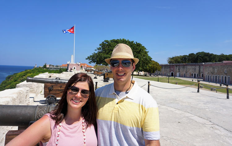 Don and Heidi Bucolo in front of El Morro.