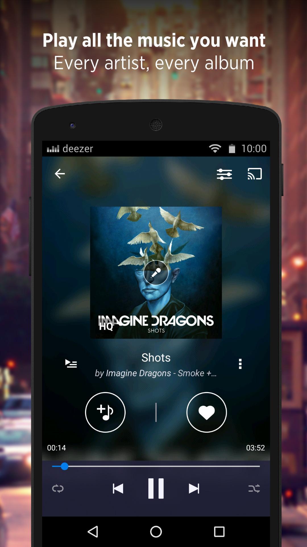 Deezer - Songs & Music Player screenshot #1