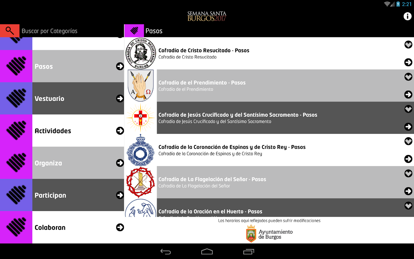 Semana Santa Burgos- screenshot
