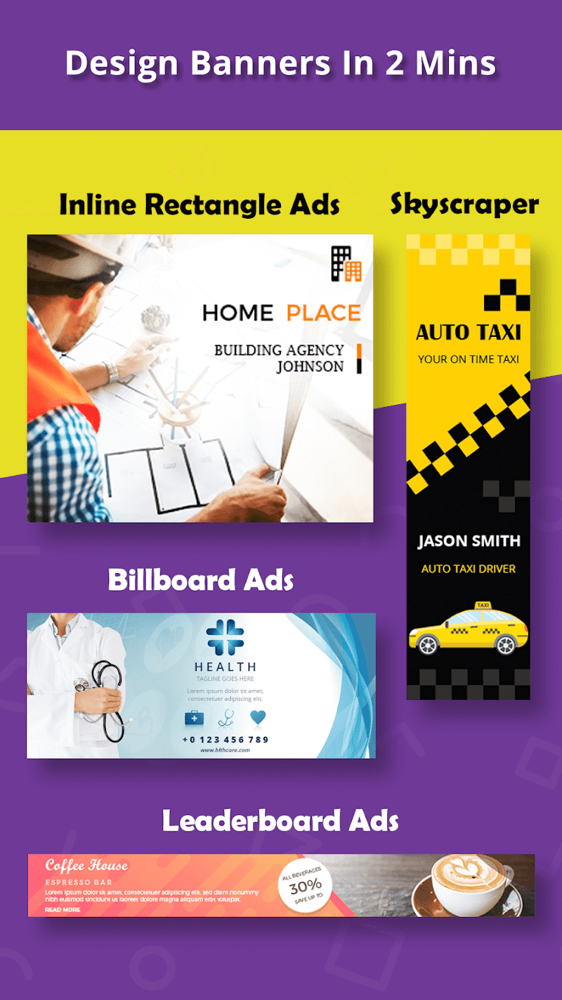 Banner Maker, Ad Maker, Web Banners, Graphic Art Screenshot 0