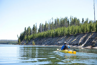 Photo: Sea kayaking on Yellowstone Lake in Yellowstone National Park, WY.