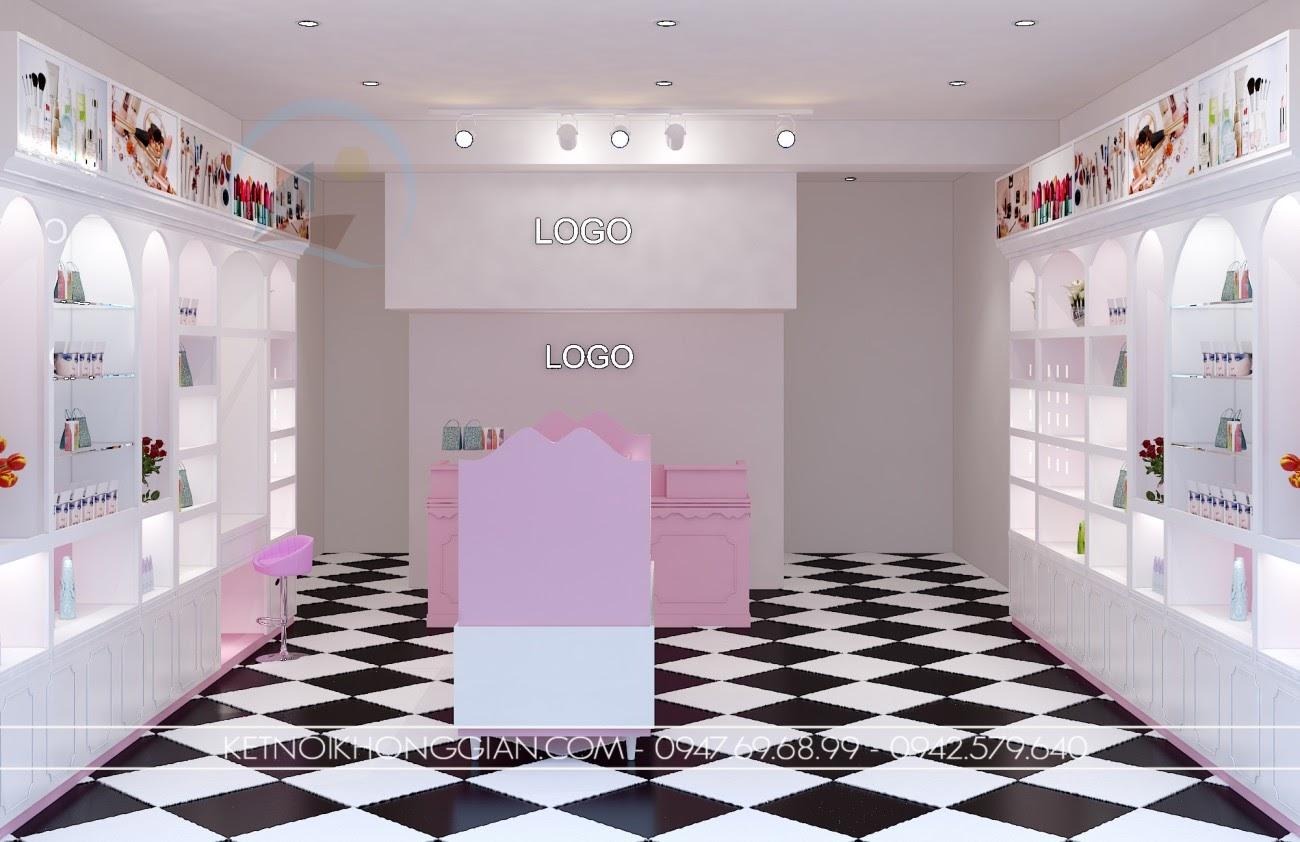 thiết kế shop mỹ phẩm cao cấp 1