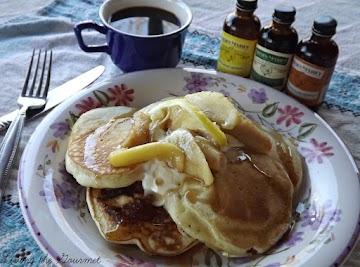 Vanilla Pancakes With Lemon-vanilla Apples Recipe
