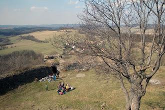 Photo: Místní nám prodali pár pohledů a pověděli něco z historie hradu.