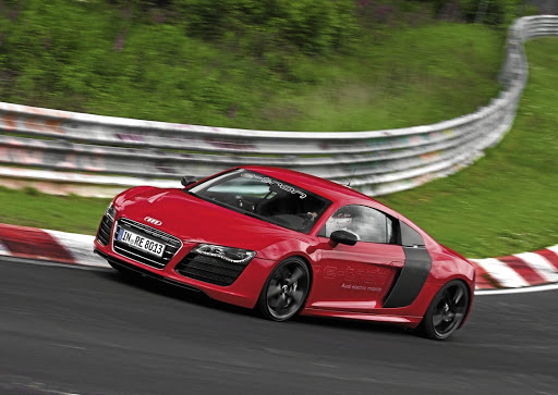 The e-tron version of the R8 that never made it to production. Picture: NEWSPRESS UK