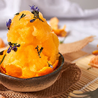 Mandarin and Rosemary Sorbet.