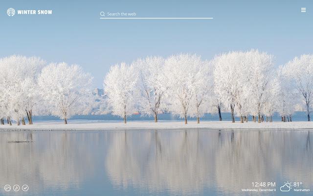 Winter Snow HD Wallpaper Theme