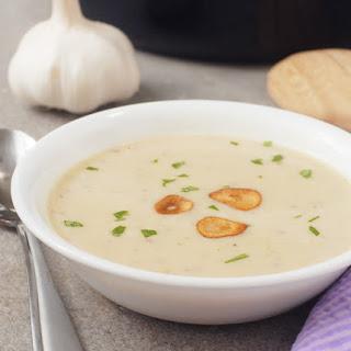 Creamy Garlic Potato Soup with 4 Cloves Per Serving Recipe