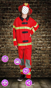 Firefighter Photo Frame - náhled