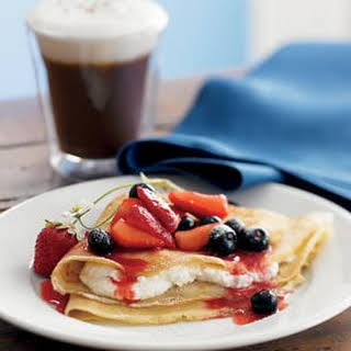 Crepes with Berries and Ricotta.