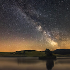 The Milky Way by Babus Patrik - Landscapes Starscapes ( milkyway, starlight, sigma, stars, way, lake, nikon, light, longexposure, milky )