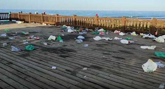 Imagen del Paseo Marítimo de Retamar tras el incidente.