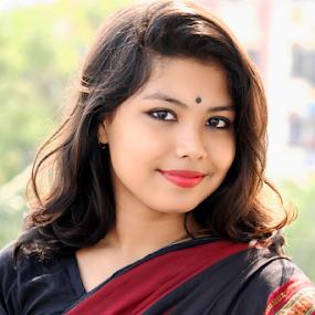 by Rajib Chatterjee - People Portraits of Women