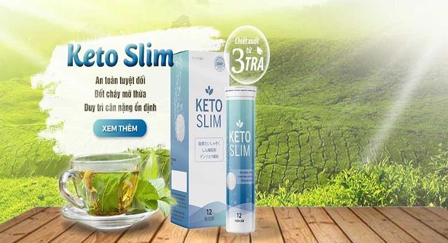 Viên sủi giảm cân keto slim có thành phần được chiết xuất từ thiên nhiên