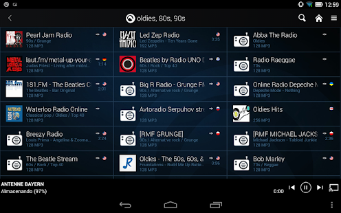 Radio Player de Audials: miniatura de captura de pantalla
