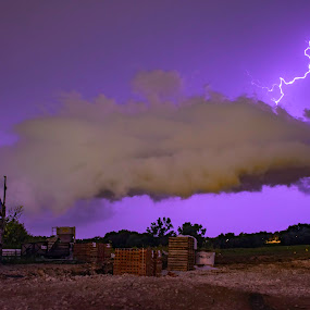 lightning by Duane Vosika - Landscapes Weather ( landscapes, lightning, nikon, storm, omaha, nature, night, nightscape, nebraska, long exposure, night photography,  )